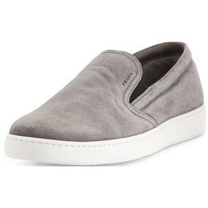 Prada Gray Suede Sneakers 36.5